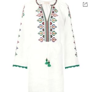 Tory Burch Linen Embroidered Dress NWT